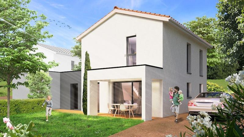 Construction maison contemporaine lyon immofavoris for Maison a vendre 69110