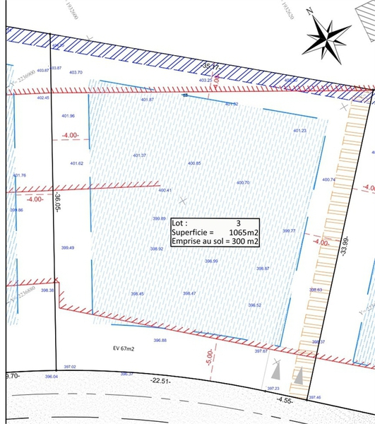 Plan une maison un terrain 300m2 immofavoris for Plan maison 300m2