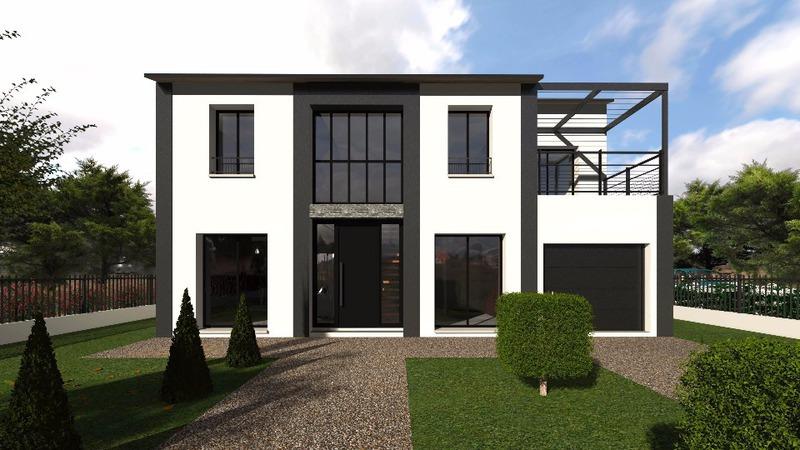 Construire maison 2 etage une facade immofavoris - Ajouter un etage a une maison ...