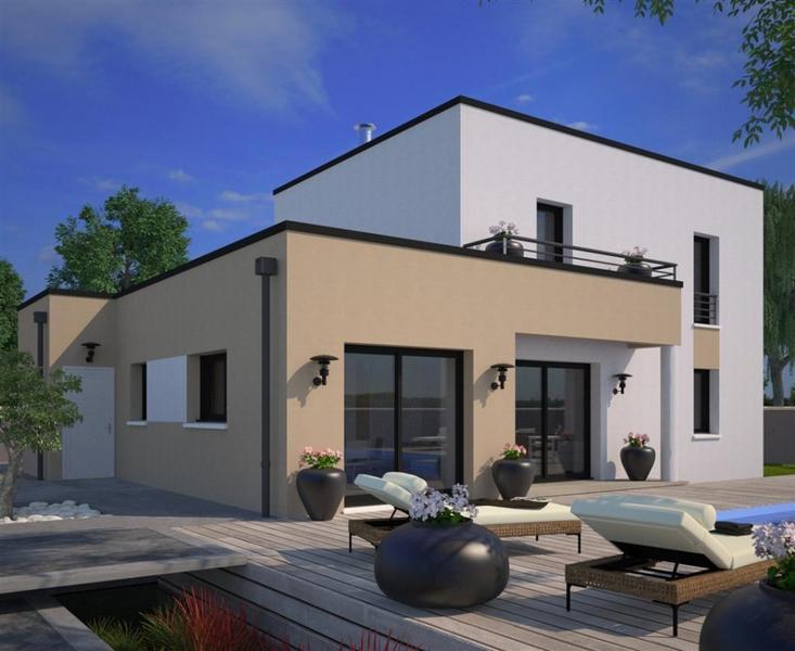Maison toit plat terrasse immofavoris for Les belles maisons modernes