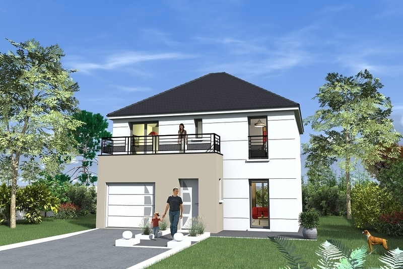 Construction maison toit plat terrasse immofavoris for Vente de maison neuve