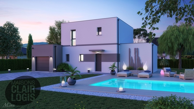 construction maison toit plat terrasse immofavoris. Black Bedroom Furniture Sets. Home Design Ideas